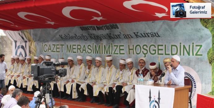 Kıbledağı Köyü Kur'an Kursunda İzacet Merasimi Yapıldı