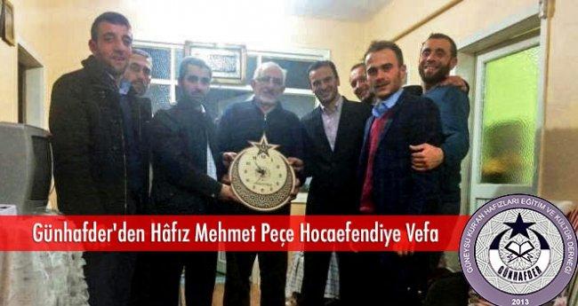 Günhafder'den Hâfız Mehmet Peçe Hocaefendiye Vefa